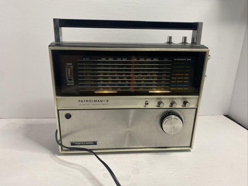 Realistic Patrolman 9 AM FM VHF UHF Shortwave MB WX AIR Portable Radio