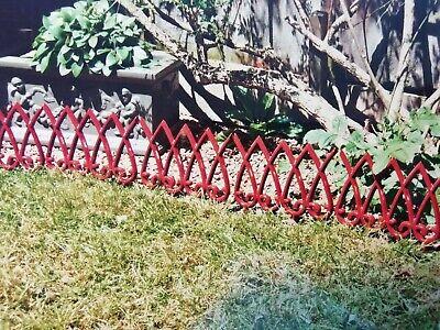 cast iron reproduction victorian garden edging tiles - two models/five colours -