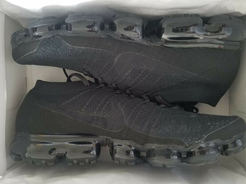 4c04bffb09b5 Nike Air VaporMax Flyknit Men s Running Shoes Sneakers Triple Black 849558 -011