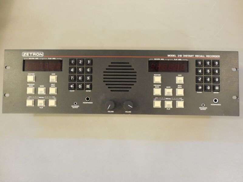 Zetron Model 21D Instant Recall Recorder - Operator Control Panel