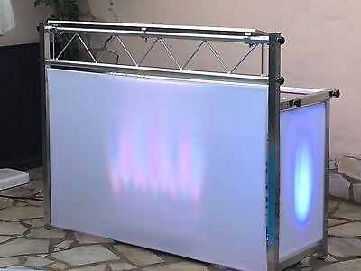 """DJ Tisch """"Showstand 1"""" 1,50m Nutzfläche aus Aluminium/Truss"""