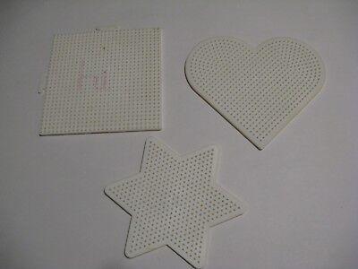 3 Large Pegboards WHITE. For Perler Fuse Beads. Iron. Melt.Template. Design.Hama ()