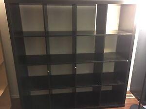 Ikea-style black bookshelf (4x4)
