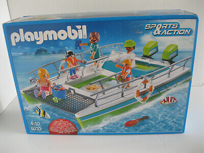 PLAYMOBIL 9233 GLASS BOTTOM BOAT FIGURES + ACCESSORIES + UNDERWATER MOTOR -1