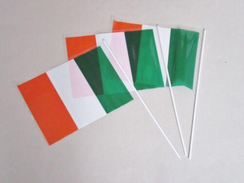 3 x Republic of Ireland Eire Hand Waving Flag St Patrick