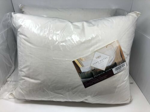 Restoration Goods Park Hotel Collection White Down Hypoallergenic Pillow 2-Pack