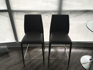 Structube Bar stools - Grey - Pair - Perfect condition