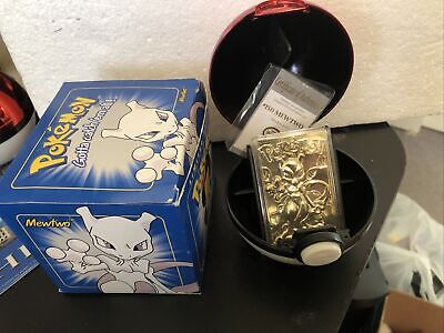 Pokémon 23 karat Gold-Plated Trading Card: Mewtwo w/certificate of authenticity
