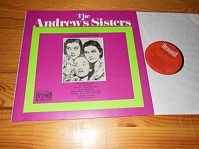 THE ANDREWS SISTERS - HISTORIA TOP CLASSIC 1937-1939 / GERMANY-LP 1984 MINT-