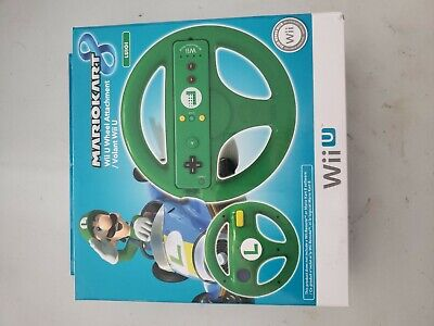 Wii U Mario Kart 8 Luigi Green Steering Wheel