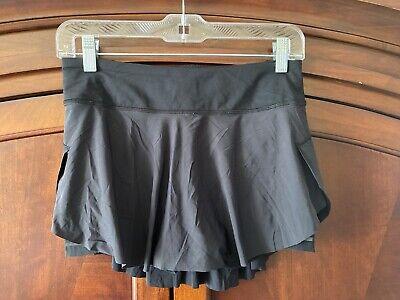 Lululemon Quick Pace Skirt Black Size 4