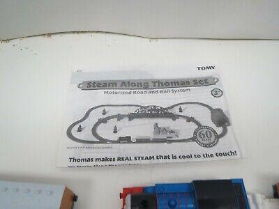 STEAM ALONG THOMAS SET THOMAS & FRIENDS TRAIN SET TOMY 2005 - Motorized
