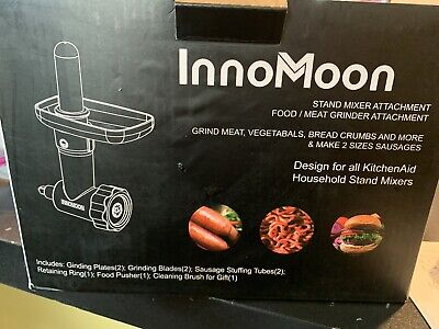 Food Meat Grind Attachment Kitchenaid Stand Mixer 2sausage Tubes 2grinder Plates