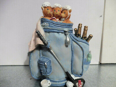 VINTAGE 90´S NICE MONEYBOX GOLF BEARS ! BONITA HUCHA GOLF OSITOS TOY