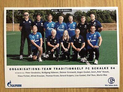 Mannschaftskarte AK FC Schalke 04 Traditionsmannschaft Autogrammkarte MK 2018-19