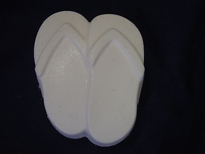 QTY 2 - Flip Flop Soap or Plaster Garden Mold  4761 Moldcreations
