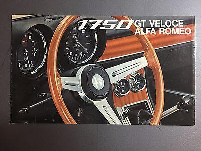1968 Alfa Romeo 1750 GT Veloce Folder / Brochure RARE!! Awesome L@@K