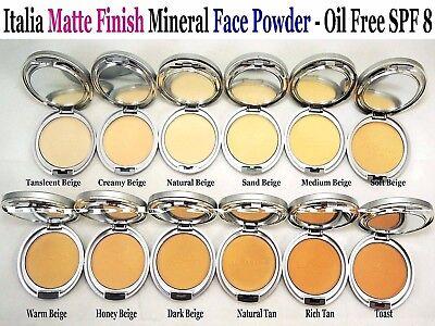 - Italia Deluxe SPF 8 Mineral Oil Free Matte Finish Face Powder - Natural look