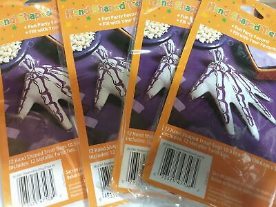 Halloween Goody Bags For School (Skeleton Hand Treat Bags (48) - Halloween Party Tricker Treat)