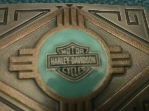 vintage harley davidson collectible Brass Belt Buckle 1996 Southwestern look