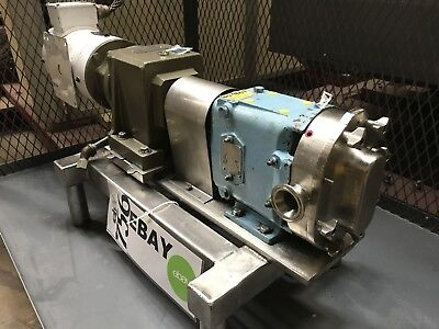 Waukesha 015 Rotary Positive Displacement Pump 1.5hp 3ph W Stober Gearbox