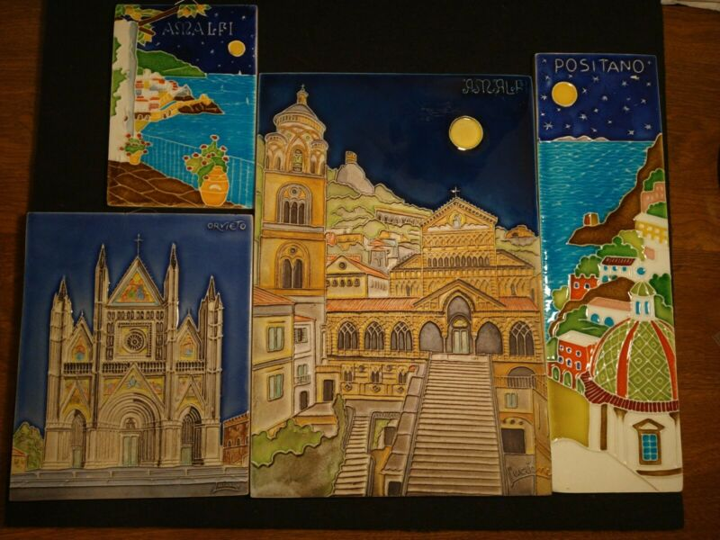 Vintage Creazioni Luciano Artist Porcelain Italy Tiles