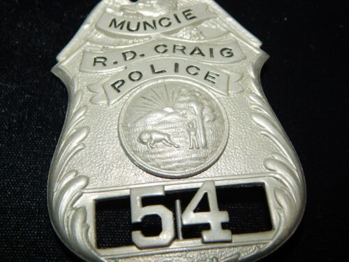 ANTIQUE MUNCIE INDIANA  POLICE  IN IND #54 NAMED