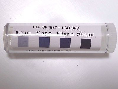 Chlorine Litmus Test Kit 100 Strips Restaurant Dishwasher Sanitizer Test Paper