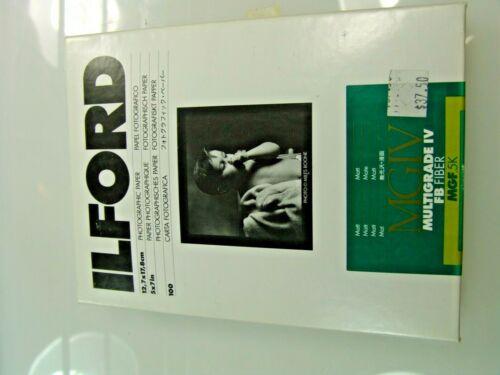 ILFORD MULTIGRADE IV FB FIBER MATT  5X7  100 DARKROOM PAPER