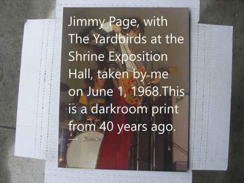 Jimmy Page Concert Photo, with Yardbirds,  Shrine, Original Negative, 1968,
