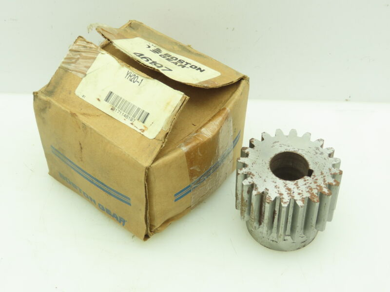 "Boston Gear YH20 External Tooth Spur Gear 8 DP 20°PA 20 Teeth 1""Keyed Bore"