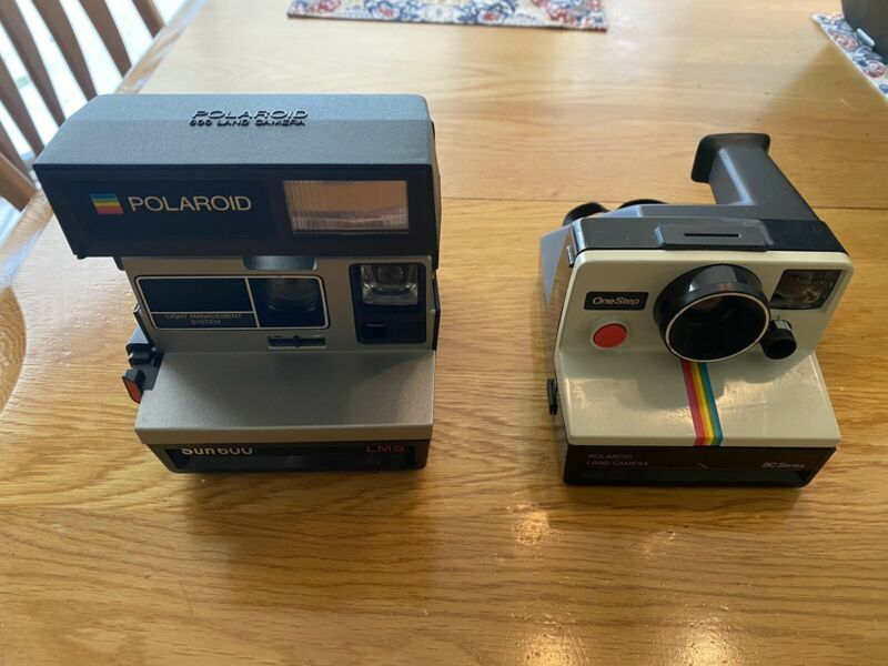 Polaroid Sun 600 LMS and Polaroid OneStep SX-70