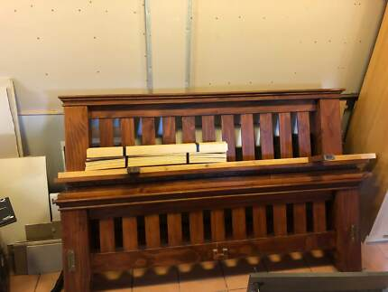 Solid quality wood king size bed frame