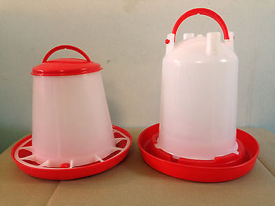 1 KG FEEDER & 1.5LTR ECONOMY DRINKER KIT FOR POULTRY CHICK CHICKEN QUAIL for sale  Shipping to Ireland