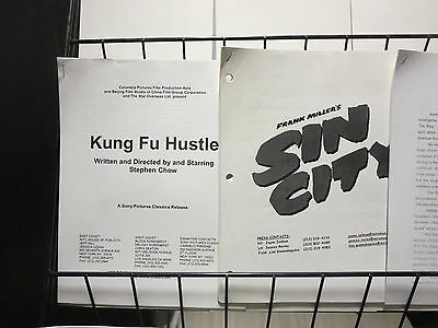 MOVIE PRODUCTION INFO - Lot of 8 Packets Sin City Kung Fu Hustle The Ring