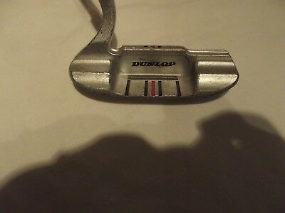 DUNLOP STEEL SHAFTED GOLFING PUTTER WITH A RUBBER GRIP