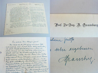 2 FRANKFURT a.M. 1936: Prof. Anton GRAMBERG über GENEALOGIE seiner Familie gebraucht kaufen  Berlin