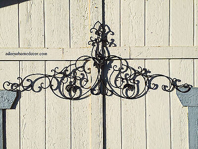 Large Tuscan Wrought Iron Metal Wall Decor Rustic Antique Garden Indoor Outdoor