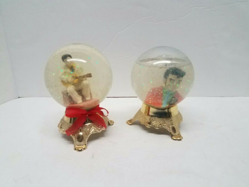 Elvis Presley Snow Globes Set Of 2 The King
