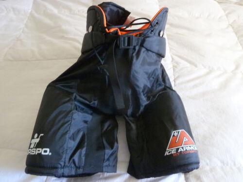 NWOT Torspo Ice Armor Youth L Large Black/Orange Padded Hockey Shorts kids boys