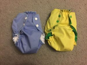 2 new applecheek diapers