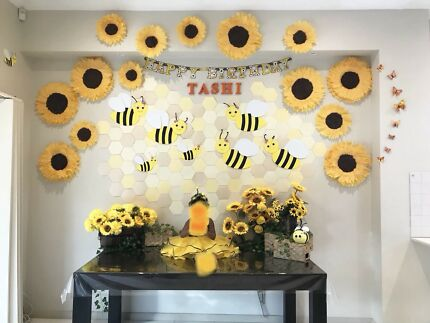 Party Decorations Bumble Bees Sun Flowers