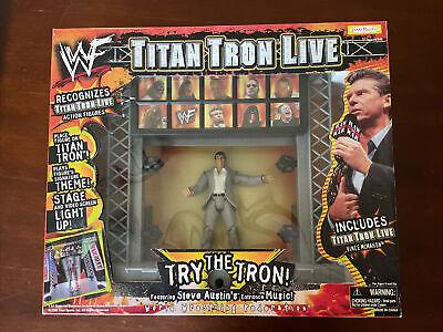 WWF Jakks Pacific 1999 Titan Tron Live Entrance Stage w/ Vince McMahon NEW