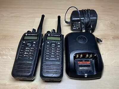 Motorola DP3600 UHF Two-Way Radios w/Batteries and Charger