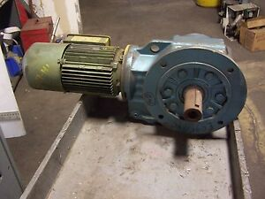 Sew Eurodrive Gear Motor W Brake 123 34 Ratio 1120 Rpm