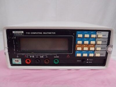 Solartron Schlumberger 7151 Computing Digital Multimeter Tested