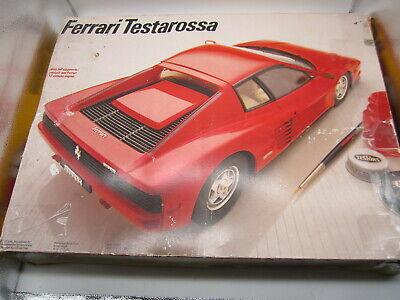 "Testors / Italeri Ferrari Testarossa No 378 1/16 Model Kit ""New"""
