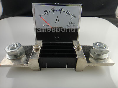 Analog Amp Panel Meter Current Ammeter Dh-670 Dc 0-500a 500a Shunt