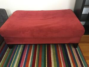 Ottoman - 150 cm Long, red micro suede Stirling Stirling Area Preview