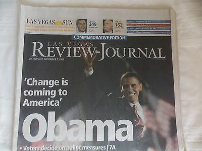 BARACK OBAMA - LAS VEGAS REVIEW JOURNAL 2008 - Mint Condition-Complete Newspaper